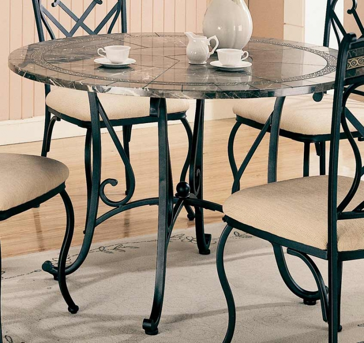 Ardith Round Marble Dining Table