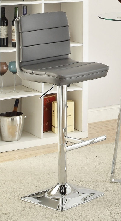 120696 Adjustable Bar Stool - Chrome/Grey