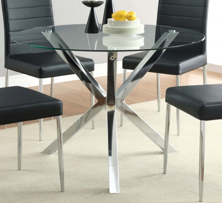 Vance Round Glass Dining Table