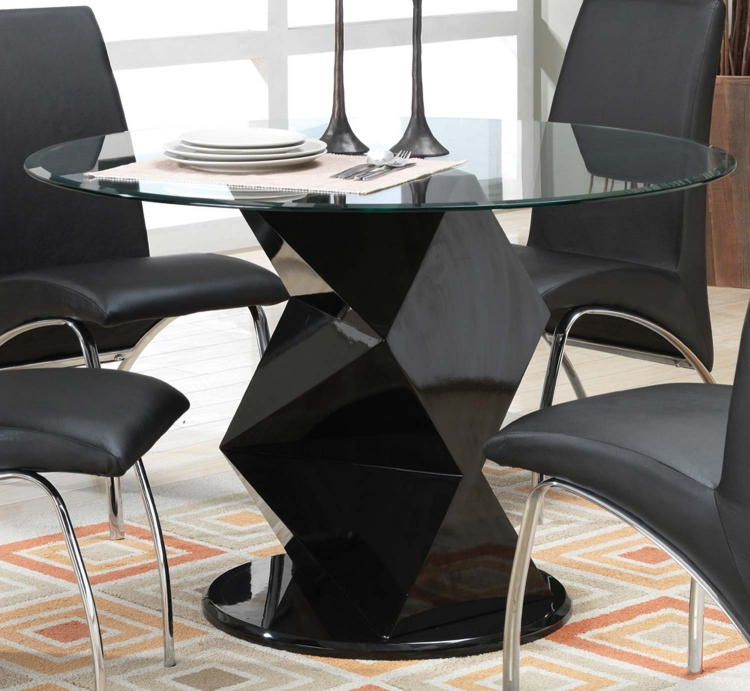 Coaster Ophelia Round Glass Dining Table