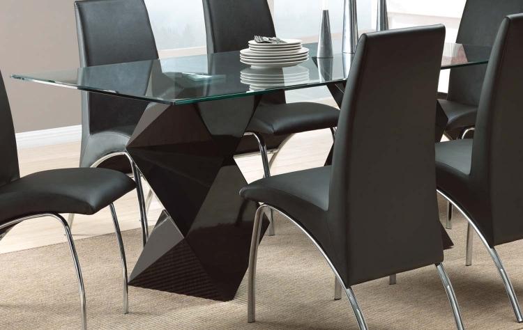 Ophelia Rectangular Glass Dining Table