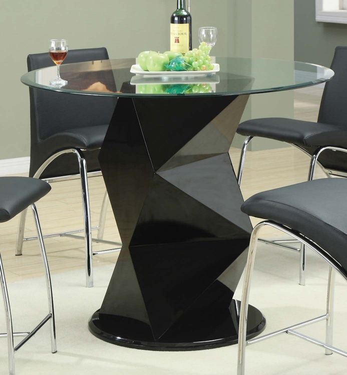 Ophelia Round Glass Counter Height Table - Coaster