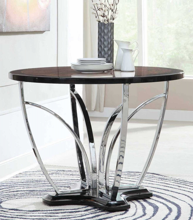 120865 Counter Height Table - Silver