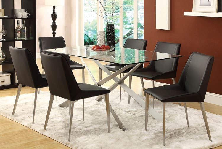 Anderson Dining Set - Silver Metal