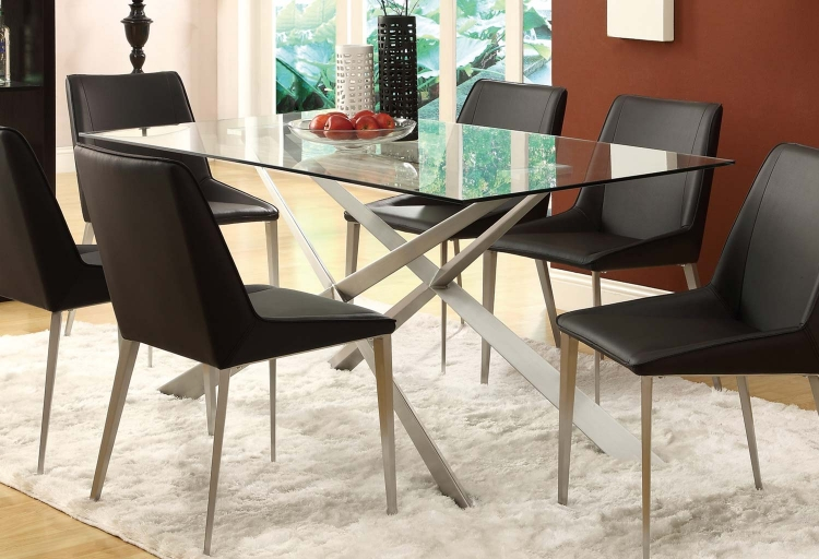 Anderson Dining Table - Silver Metal