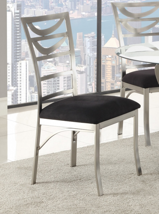 Tapia Dining Chair - Silver Metal