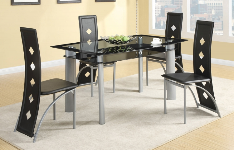 Fontana Dining Set - Silver Metal