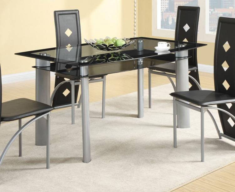 Fontana Dining Table - Silver Metal