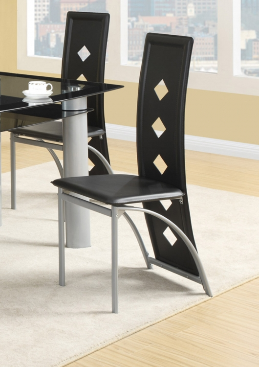 Fontana Side Chair - Black Vinyl