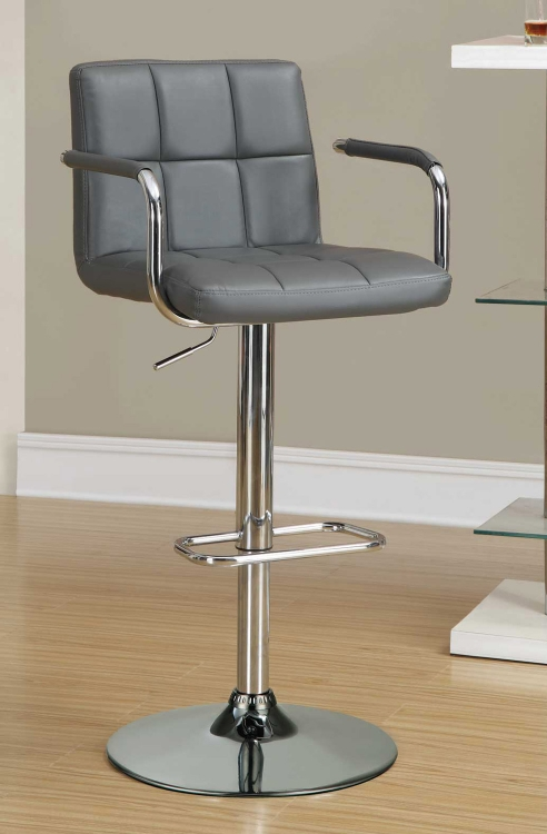 121096 Adjustable Bar Stool - Grey