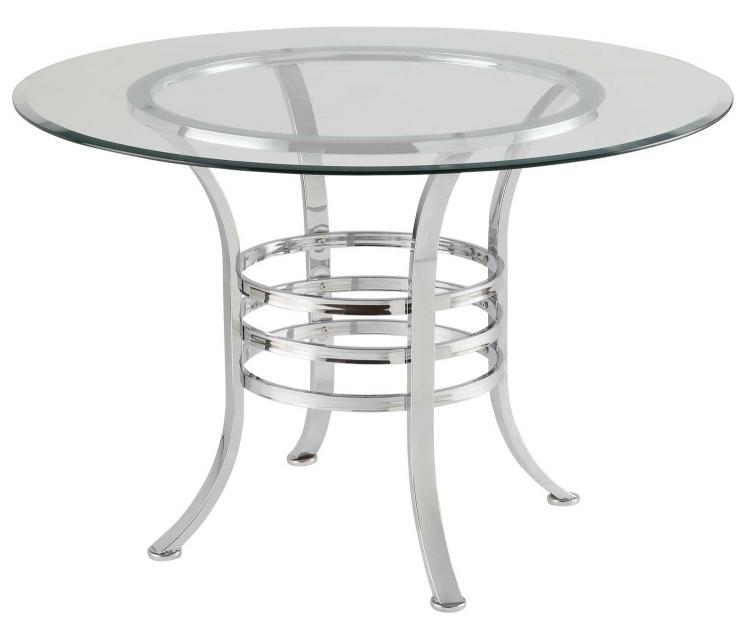 Auror Glass Dining Table - Chrome