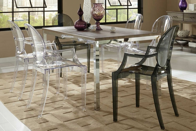 Eldridge Dining Set - Weathered Grey Chrome