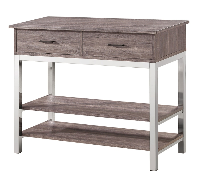 Eldridge Server - Weathered Grey Chrome