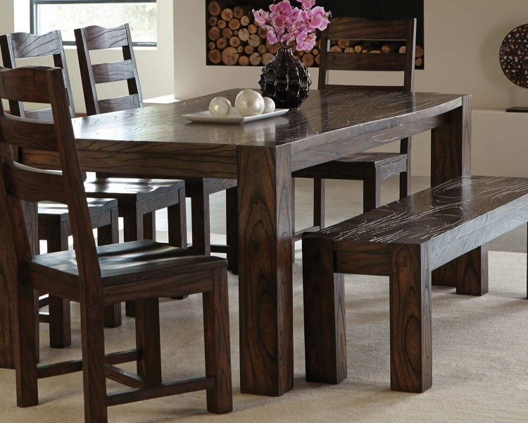 Calabasas Dining Table - Dark Brown