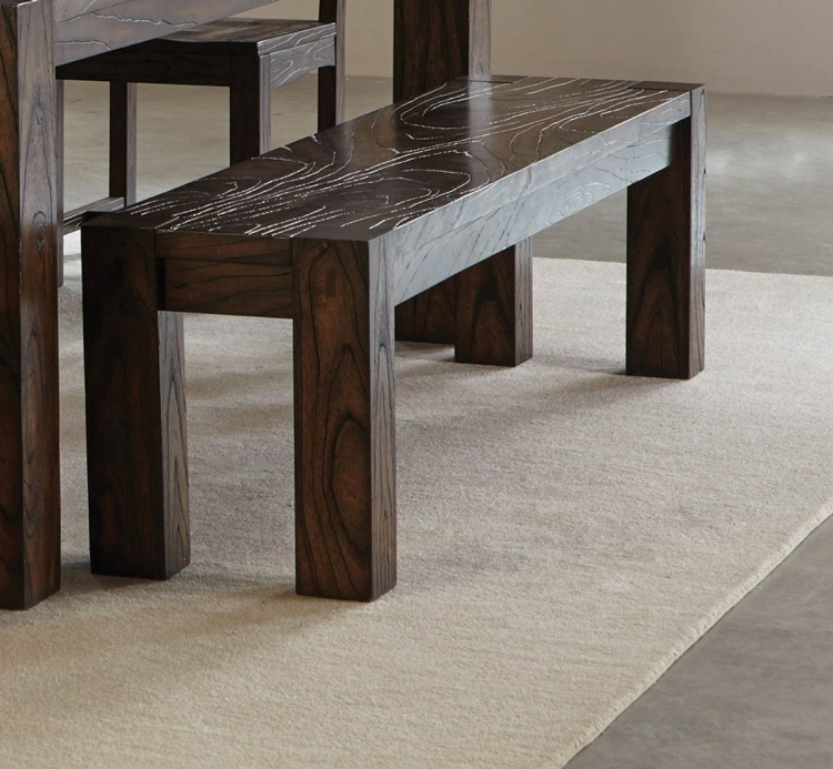 Calabasas Dining Bench - Dark Brown