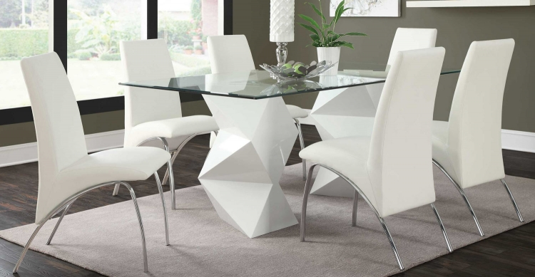 Ophelia Dining Set- White