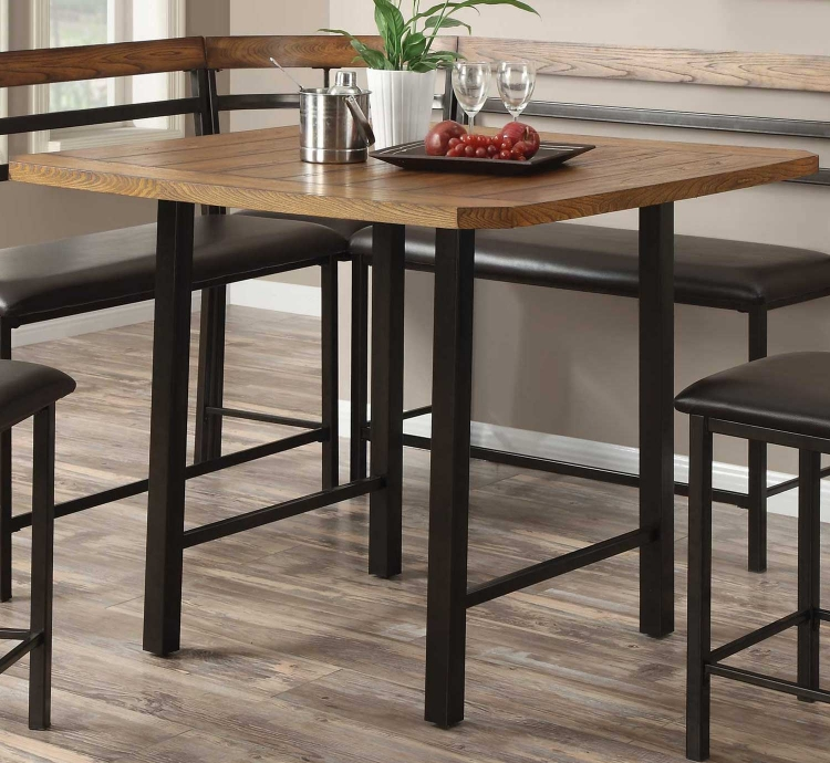 Sheldon Counter Height Table - Oak/Black