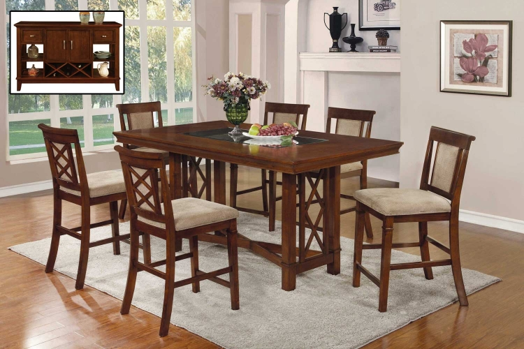 Pembrook Counter Height Dining Set - Walnut