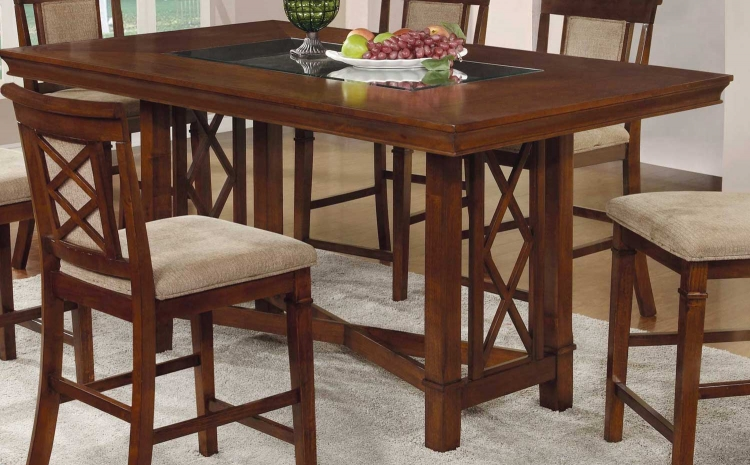 Pembrook Counter Height Table - Walnut