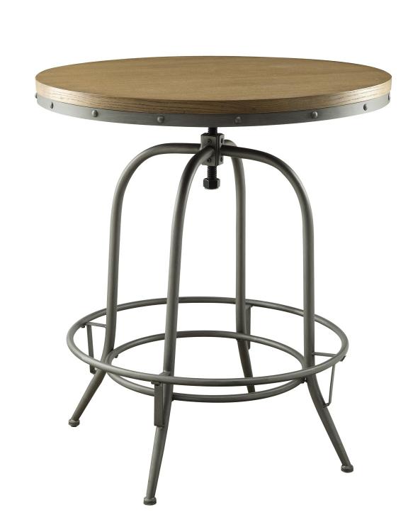 Transitional Adjustable Bar Table - Brown/Antique Black