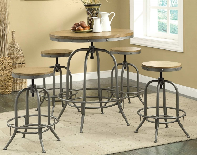 122098 Adjustable Bar Set - Brown