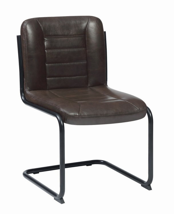 Chambler Dining Side Chair - Brown Leatherette