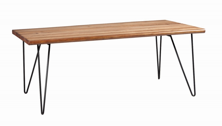 Chambler Rectangular Dining Table - Natural Honey/Gunmetal