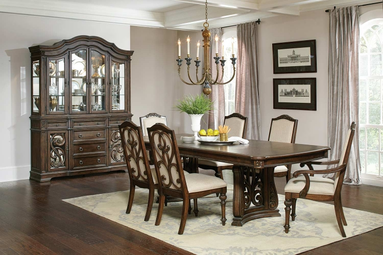 Ilana Rectangular Dining Set - Antique Java