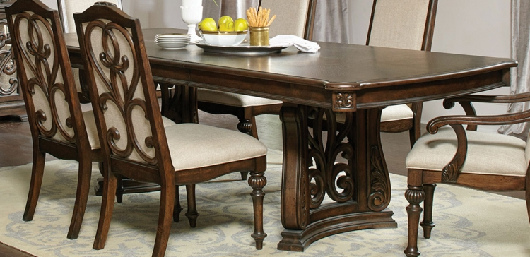 Ilana Trestle Dining Table - Antique Java