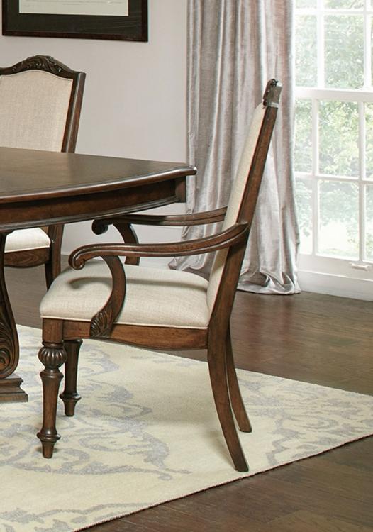 Ilana Arm Chair - Antique Java/Cream Fabric