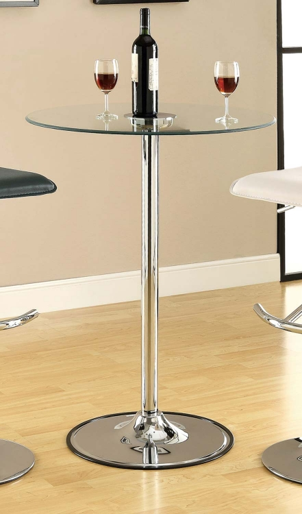 122401 36in LED Glass Top Bar Table - Coaster