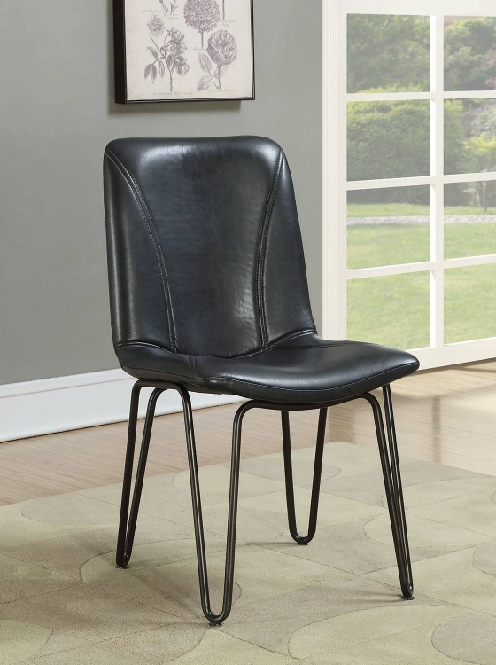 Chambler Dining Side Chair - Charcoal Leatherette