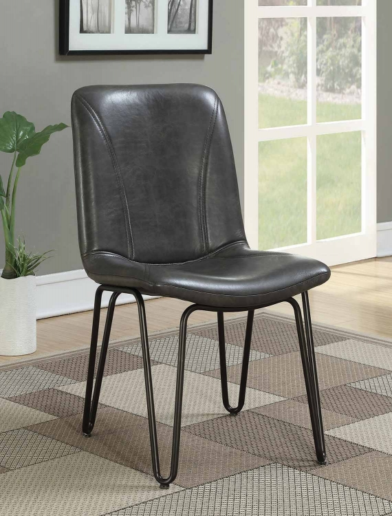 Chambler Dining Side Chair - Grey Leatheretter