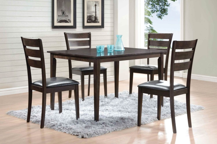 Shasta 5-Pc Dinette Set - Warm Grey/Black