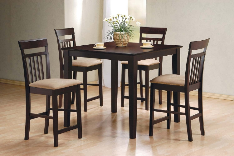 150041 5PC Counter Height Dining Set - Cappuccino