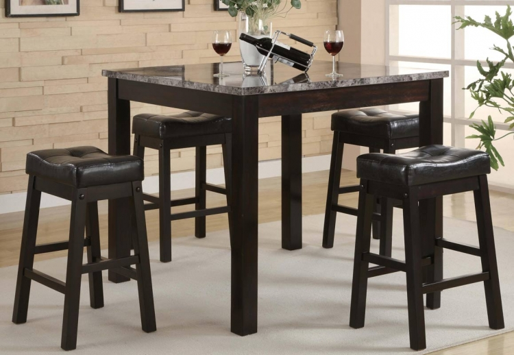 Broadway 5 Piece Square Counter Height Dining Set