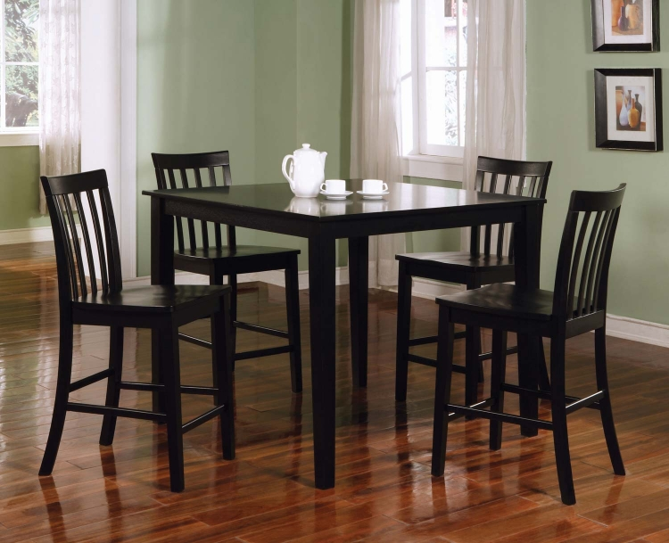 150231BLK 5PC Counter Height Dining Set - Black