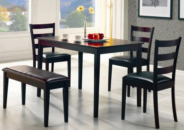 Taraval 5 Piece Rectangular Dining Set - Coaster