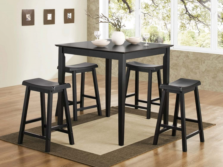 150291N 5PC Counter Height Dining Set - Black - Coaster