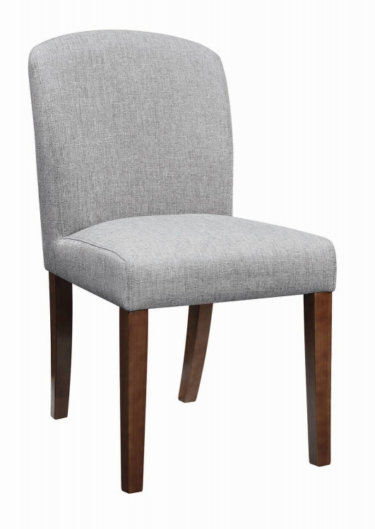 Louise Parson Side Chair - Walnut/Grey Fabric