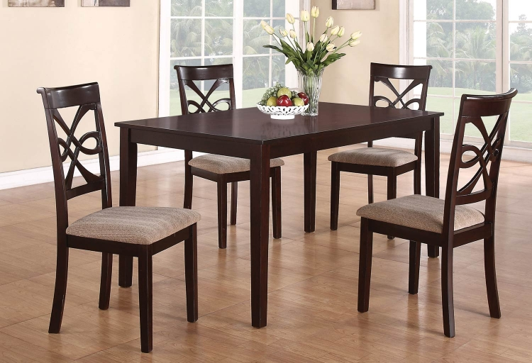 Cara Dining Set - Dark Cherry