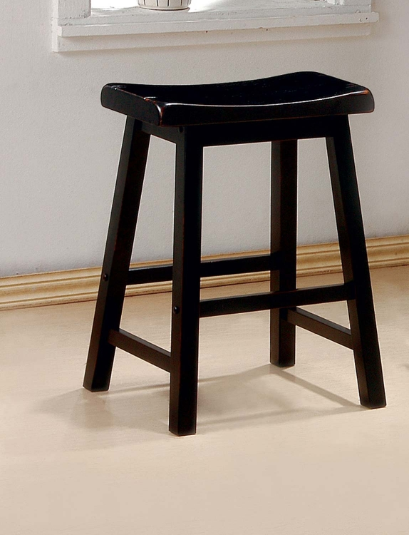 180019 Counter Stool - Rich Black - Coaster