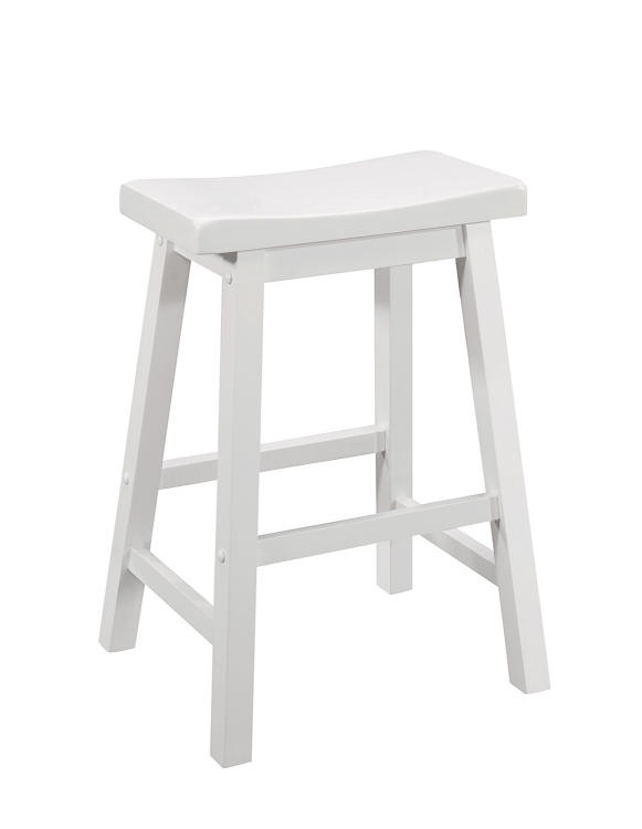 180168 Counter Height Stool - White