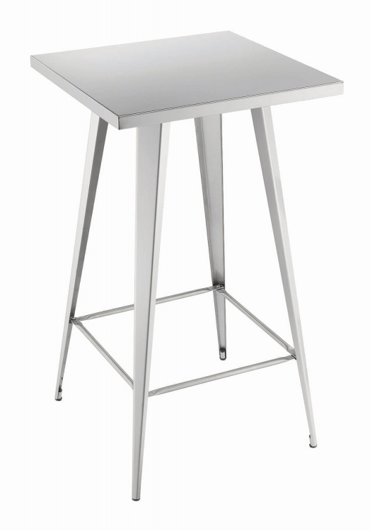 180171 Square Bar Table - Silver