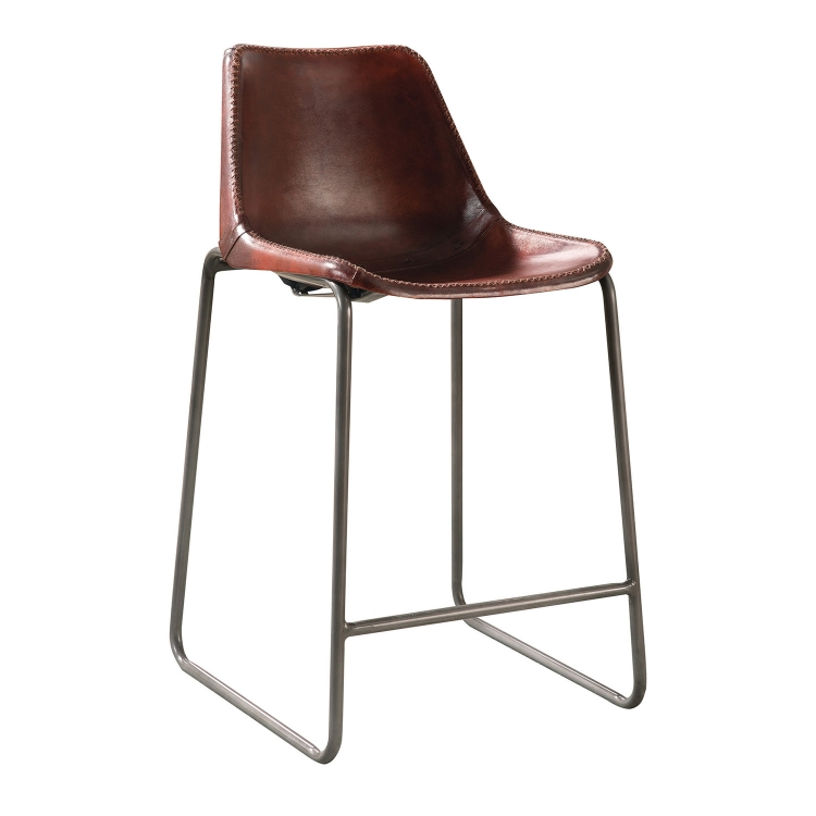 180228 Counter Height Stool - Antique Brown