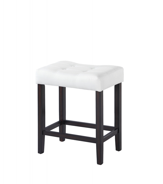 182018 Counter Height Stool - White Fabric