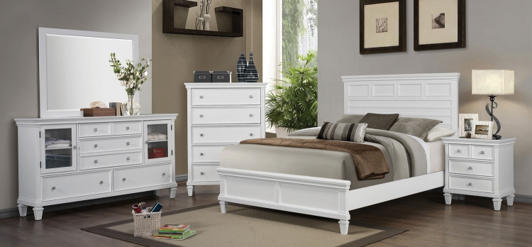 Camellia Bedroom Set - White