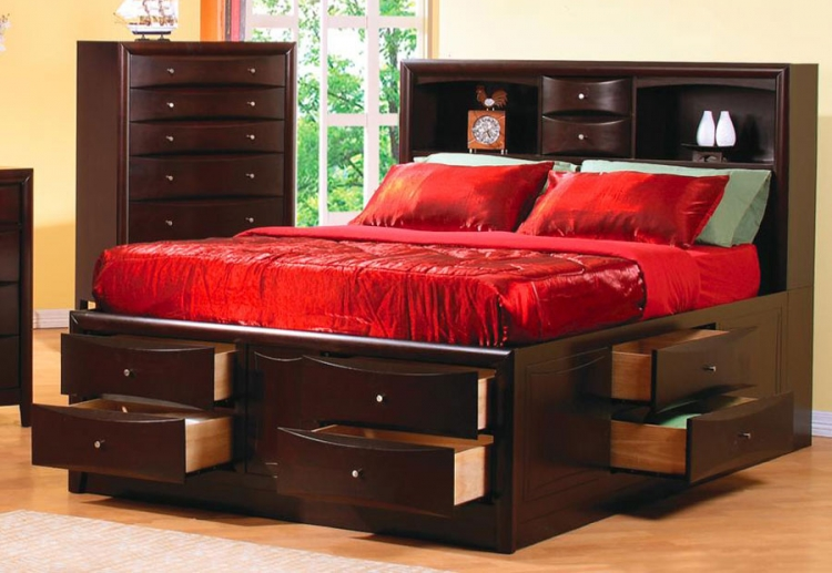 Phoenix Bookcase Chest Bed