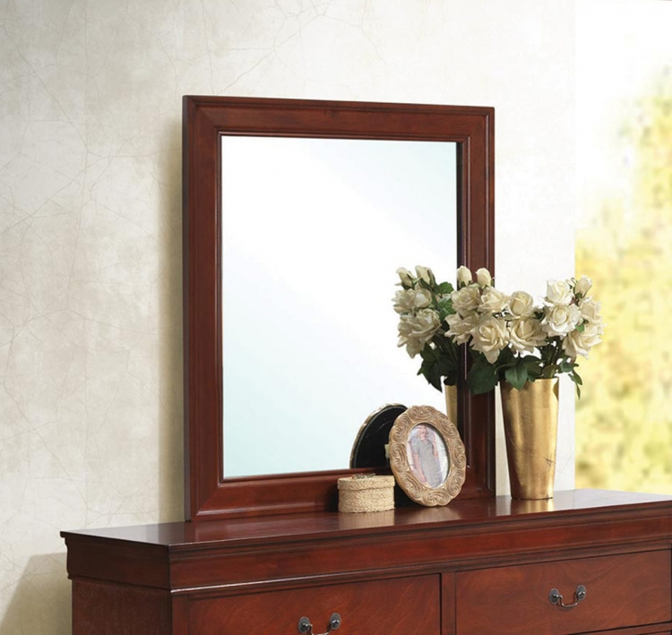 Coaster Louis Philippe Mirror - Red Brown