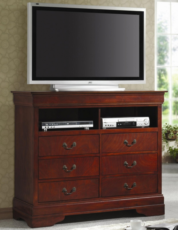 Louis Philippe Cherry TV Dresser